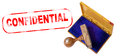 CONFIDENTIAL Rubber Stamp Royalty Free Stock Photo