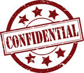 Confidential Rubber Stamp (Vector) Royalty Free Stock Photo