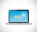 Configure code on a laptop illustration design over white background Royalty Free Stock Photography