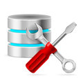 Configuring database tools illustration white Royalty Free Stock Image