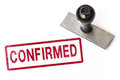 confirm text sign label stamp Royalty Free Stock Photo