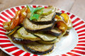 Confit byaldi variation on the traditional french dish ratatouille Royalty Free Stock Photo