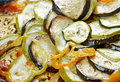 Confit byaldi variation on the traditional french dish ratatouille Stock Photography