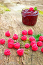 Confiture de framboise Photo stock