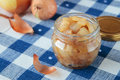 Confiture of onions honey and lemon juice Royalty Free Stock Photo