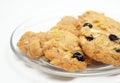 Conflex and raisin cookies Stock Photos