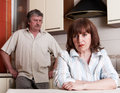Conflict adults couple Royalty Free Stock Photo