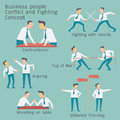 Conflict business Royalty Free Stock Photo