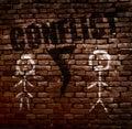 Conflict couple concept