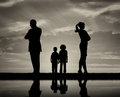 Conflict and divorce in the family Royalty Free Stock Photo