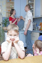 Conflict in family Royalty Free Stock Photo