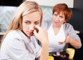 Conflict between mother and daughter quarrel Royalty Free Stock Image