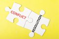 Conflict and resolution words Royalty Free Stock Photo