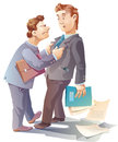 Conflict two businessman are arguing and maybe they are close to fight Royalty Free Stock Images
