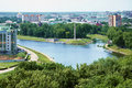 Confluence of the Oka and Orlik rivers Royalty Free Stock Photo