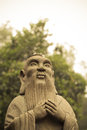 Confucious a stone statue in shunde china Stock Photo