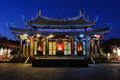 Confucius temple night scene of in taipei taiwan Royalty Free Stock Image