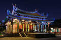 Confucius temple night scene of in taipei taiwan Royalty Free Stock Images