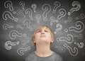 Confused child thinking Royalty Free Stock Photo