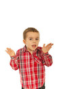 Confused little boy Royalty Free Stock Images
