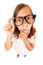 Confused nerd girl Royalty Free Stock Photo