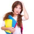 Confused School Girl