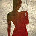 Confused woman silhouette