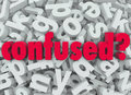 Confused word letter background disoriented lost the on a of letters to illustrate the feeling of being puzzled or bewildered Royalty Free Stock Photography