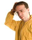 Confused Worker Stock Image