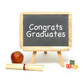 Congrats grads a sign congratulating the new graduates of school Royalty Free Stock Images