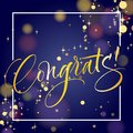 Congrats Hand Lettering