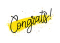 Congrats! Trend calligraphy. Gift card