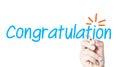 Congratulation Royalty Free Stock Photo