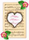 Congratulation on day of mother. Stock Image