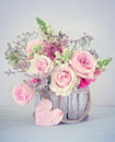 Congratulation with a flowers Royalty Free Stock Photo