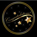 Congratulation lettering gold Royalty Free Stock Images