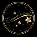 Congratulation lettering gold