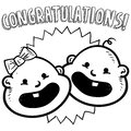 Congratulations baby sketch Stock Photos