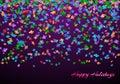 Congratulations background with confetti
