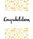 Congratulations Calligraphy. Congratulations Background with gold confetti.