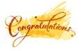 Congratulations calligraphy