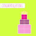 Congratulations card with gift boxes vector illustration Royalty Free Stock Image