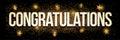 Congratulations golden glitter background banner.
