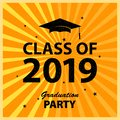 Congratulations Graduates Class of 2019. Greeting Card Background, University Student Award. Congratulatory Ceremony