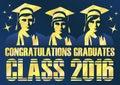 Congratulations graduates class of 2016 poster