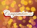 Congratulations lettering illustration design on a gold background Stock Image