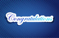 Congratulations sign background on a blue lines pattern Royalty Free Stock Images