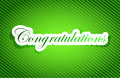Congratulations sign card illustration design graphic over a green background Stock Images