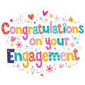 Congratulations on your engagement card Royalty Free Stock Photo