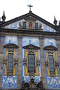 Congregados church in porto portugal baroque style th century tiled with azulejos portuguese traditional blue and white tiled Royalty Free Stock Photo